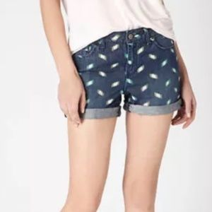 Anthro Pilcro Letterpress Scribble Denim Shorts